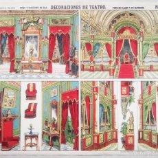 Coleccionismo Recortables: ESTAMPERIA PALUZIE. DECORACIONES DE TEATRO. Nº 1096. PALACIO. 29 X 38 CMS.. VELL I BELL.. Lote 60845175