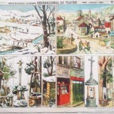 Coleccionismo Recortables: ESTAMPERIA PALUZIE. DECORACIONES DE TEATRO. Nº 1093. PUEBLO. 29 X 38 CMS.. VELL I BELL.. Lote 60845255