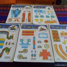Coleccionismo Recortables: SUPER BRICOLAGE INFANTIL EDICIONES BEASCOA. CABALLITO TREN DRAKKAR ROBOT AEROPLANO. NUEVOS.. Lote 61072935