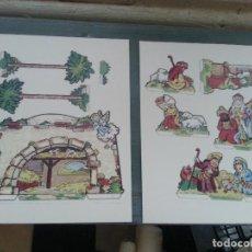Coleccionismo Recortables: BELEN RECORTABLE VIRGEN SAN JOSE NIÑO JESUS PERCEBRE PORTAL PALMERAS REYES MAGOS. Lote 97985119