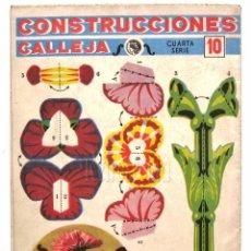 Coleccionismo Recortables: CUADERNO DESPLEGABLE CONSTRUCCIONES CALLEJA CUARTA SERIE Nº 10 FLORES AÑOS 50. Lote 62552380