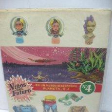 Coleccionismo Recortables: RECORTABLES DE NIÑOS DEL FUTURO EN UN MUNDO DESCONOCIDO PLANETA X-3 Nº 4. Lote 62594668