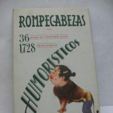Coleccionismo Recortables: EDICIÓN BARSAL BARCELONA - ANTIGUOS RECORTABLES ROMPECABEZAS HUMORÍSTICOS. Lote 63284712