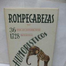 Coleccionismo Recortables: EDICIÓN BARSAL BARCELONA - ANTIGUOS RECORTABLES ROMPECABEZAS HUMORÍSTICOS. Lote 63285532