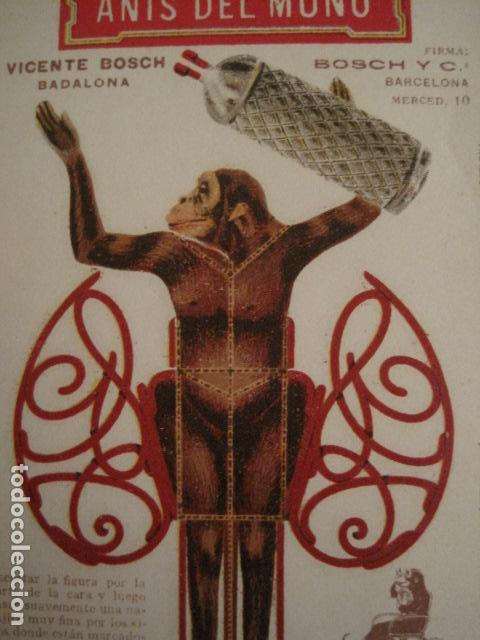 Coleccionismo Recortables: ANIS DEL MONO - TARJETA RECORTABLE - MONO EN EL BALANCIN CON BOTELLA -VER FOTOS -(V-6819) - Foto 2 - 63809467