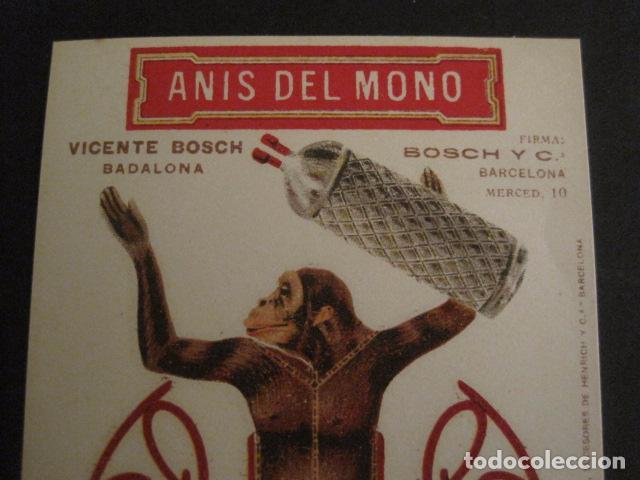 Coleccionismo Recortables: ANIS DEL MONO - TARJETA RECORTABLE - MONO EN EL BALANCIN CON BOTELLA -VER FOTOS -(V-6819) - Foto 4 - 63809467