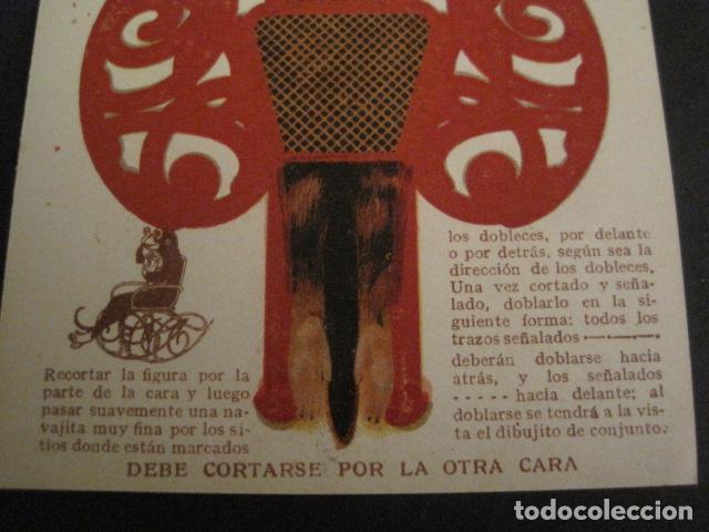 Coleccionismo Recortables: ANIS DEL MONO - TARJETA RECORTABLE - MONO EN EL BALANCIN CON BOTELLA -VER FOTOS -(V-6819) - Foto 6 - 63809467