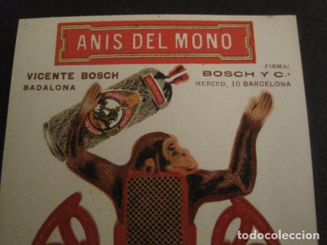 Coleccionismo Recortables: ANIS DEL MONO - TARJETA RECORTABLE - MONO EN EL BALANCIN CON BOTELLA -VER FOTOS -(V-6819) - Foto 7 - 63809467
