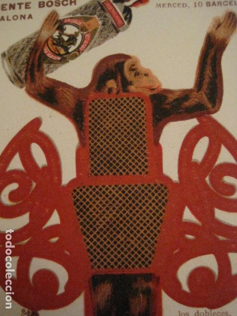 Coleccionismo Recortables: ANIS DEL MONO - TARJETA RECORTABLE - MONO EN EL BALANCIN CON BOTELLA -VER FOTOS -(V-6819) - Foto 8 - 63809467