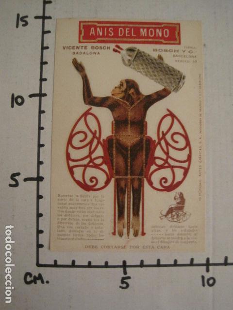Coleccionismo Recortables: ANIS DEL MONO - TARJETA RECORTABLE - MONO EN EL BALANCIN CON BOTELLA -VER FOTOS -(V-6819) - Foto 9 - 63809467