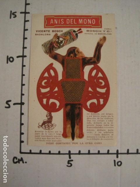 Coleccionismo Recortables: ANIS DEL MONO - TARJETA RECORTABLE - MONO EN EL BALANCIN CON BOTELLA -VER FOTOS -(V-6819) - Foto 10 - 63809467