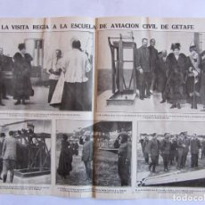 Coleccionismo Recortables: RECORTE MUNDO GRAFICO 24-11-1915 ESCUELA DE AVIACION CIVIL DE GETAFE. SALVADOR HEDILLA ***049. Lote 64605299