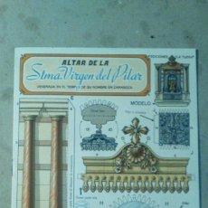 Coleccionismo Recortables: RECORTABLES LA TIJERA STMA. VIRGEN DEL PILAR ZARAGOZA. Lote 69111249