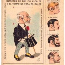 Coleccionismo Recortables: LAMINA RECORTABLE COMICA RETRATOS DE DON PIO ALCALDE. CHOCOLATES MATEO MARTIN GARCIA SALAMANCA 1950. Lote 69246325