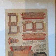 Coleccionismo Recortables: ANTIGUA HOJA RECORTABLE, CONSTRUCCION BANCO.. Lote 69543493