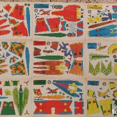 Coleccionismo Recortables: RECORTABLES DE AVIONES. 9 RECORTABLES DE AVIONES MILITARES. 1959 ( NO CONSTA MAS INFORMACION). Lote 70077625