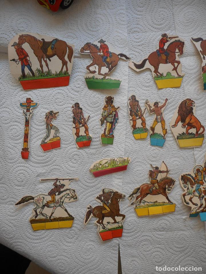 Coleccionismo Recortables: Lote colección de 24+1 de figuras del Oeste, años 60, posible de Toray. Buen estado - Foto 2 - 70402009
