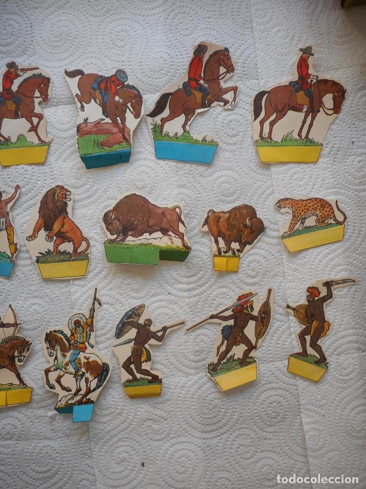 Coleccionismo Recortables: Lote colección de 24+1 de figuras del Oeste, años 60, posible de Toray. Buen estado - Foto 3 - 70402009