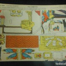 Collectionnisme Images à Découper: RECORTABLE LA TIJERA - NACIMIENTO BELEN NAVIDAD - SERIE 10 Nº 160. Lote 71527331