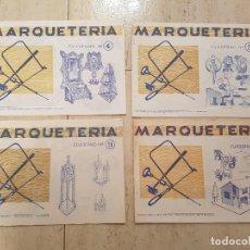 Coleccionismo Recortables: ANTIGUO LOTE 4 UDS CUADERNO ESCOLAR MARQUETERIA 1960 EDITORIAL MIGUEL SALVATELLA MANUALIDADES. Lote 73052415
