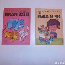 Coleccionismo Recortables: CONSTRUYO MIS JUGUETES NÚMEROS 1 Y 14, BRUGUERA, 1974, NUEVOS. VER FOTOS.. Lote 73690915