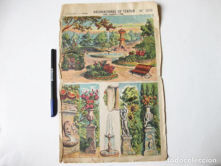 DECORACIONES DE TEATRO PALUZIE 1063. JARDIN (BASTIDORES Y FONDO) (Coleccionismo - Otros recortables)