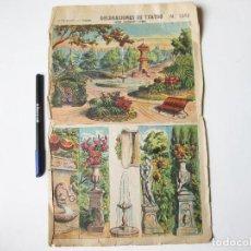 Coleccionismo Recortables: DECORACIONES DE TEATRO PALUZIE 1063. JARDIN (BASTIDORES Y FONDO). Lote 74966487
