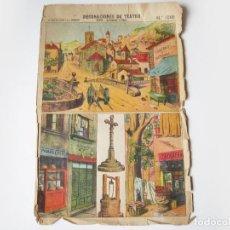 Coleccionismo Recortables: DECORACIONES DE TEATRO PALUZIE 1066. PUEBLO (BASTIDORES Y FONDO). Lote 74967419