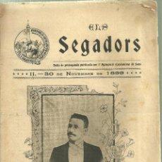 Coleccionismo Recortables: 129.-ELS SEGADORS FULLA DE PROPAGANDA DE AGRUPACIO CATALANISTA DE SANS. Lote 76145163
