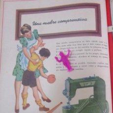 Coleccionismo Recortables: MAQUINA DE COSER ELNA J GLOTTMANN 1950 PUBLICIDAD VINTAGE RECORTE REVISTA ANTIGUA S7.32. Lote 76413291