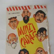 Coleccionismo Recortables: MULTICARAS JUGUETE RECORTABLE AÑOS 60 - DIBUJOS MONTALBAN. Lote 34549848