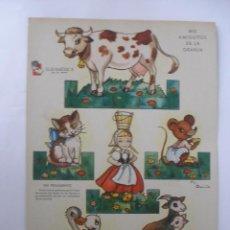 Coleccionismo Recortables: MIS AMIGUITOS DE LA GRANJA RECORTABLE CARTÓN ZAS SERIE B Nº 1 AÑOS 50. Lote 78428169