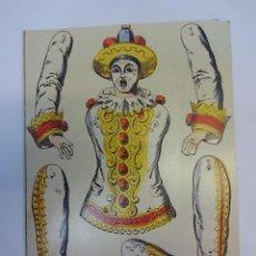 Coleccionismo Recortables: PAYASO TROQUELADO EN CARTÓN PARA MONTAR. CIRCO. MED: 24 X 17 CTMS.. Lote 79132353