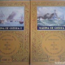 Coleccionismo Recortables: MARINA DE GUERRA. I Y II. CUADERNOS DE BLOQUES PARA PINTAR. 8 LAMINAS POR CARPETA. ED. BARGUÑO.. Lote 80807851