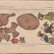 Coleccionismo Recortables: RECORTABLE JUGUETES DE PULGARCITO EL ELEFANTE OBEDIENTE. Lote 82268208
