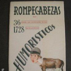 Coleccionismo Recortables: ROMPECABEZAS HUMORISTICOS - FIGURAS RECORTABLES EDICIONES BARGUÑO -BARSAL -VER FOTOS -(V-10.446). Lote 82633192
