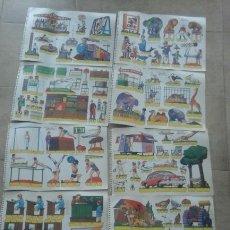 Coleccionismo Recortables: 9 RECORTABLES.BOGA.ESCENAS INFANTILES.. Lote 83395071