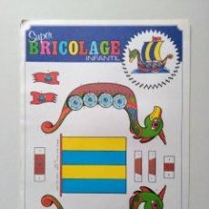 Coleccionismo Recortables: RECORTABLES SUPER BRICOLAGE INFANTIL. EDICIONES BEASCOA. BARCO VIKINGO. Lote 83407792