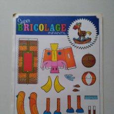 Coleccionismo Recortables: RECORTABLES SUPER BRICOLAGE INFANTIL. EDICIONES BEASCOA. CABALLO BALANCIN. Lote 83408472