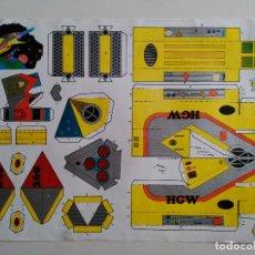 Coleccionismo Recortables: NAVE ESPACIAL HGW-TURISMO PRIVADO. MODELO 1 DEL SUPER RECORTABLES. NAVES ESPACIALES. EDITORIAL ROMA.. Lote 83454436