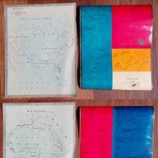 Coleccionismo Recortables: DOS ANTIGUOS MAPAS RECORTABLES DE ASIA Y AFRICA ,. Lote 83714780