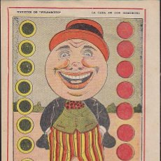 Coleccionismo Recortables: RECORTABLE JUGUETES DE PULGARCITO LA CARA DE HOMOBONO. Lote 83901188