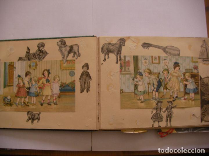 Coleccionismo Recortables: ANTIGUO ALBUM DE RECORTABLES Y CROMOS VARIOS INFANTIL CON VARIAS PAGINAS - Foto 2 - 86315320