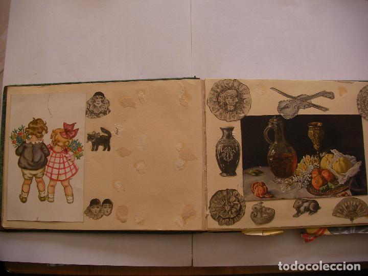 Coleccionismo Recortables: ANTIGUO ALBUM DE RECORTABLES Y CROMOS VARIOS INFANTIL CON VARIAS PAGINAS - Foto 3 - 86315320