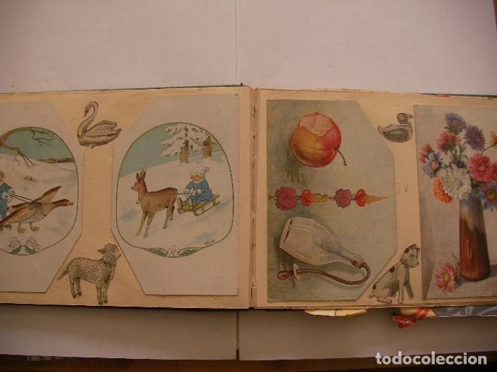 Coleccionismo Recortables: ANTIGUO ALBUM DE RECORTABLES Y CROMOS VARIOS INFANTIL CON VARIAS PAGINAS - Foto 5 - 86315320