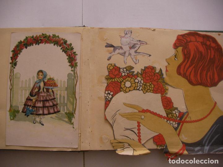 Coleccionismo Recortables: ANTIGUO ALBUM DE RECORTABLES Y CROMOS VARIOS INFANTIL CON VARIAS PAGINAS - Foto 6 - 86315320