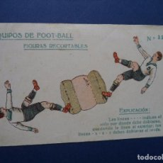 Coleccionismo Recortables: RECORTABLE EQUIPOS DE FOOT-BALL. Lote 87350772
