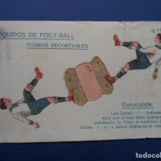 Coleccionismo Recortables: EQUIPOS DE FOOTBALL.CHOCOLATES AMATLLER. Lote 87351400
