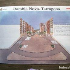 Coleccionismo Recortables: RECORTABLE RAMBLA NOVA TARRAGONA (NOU DIARI ) - 41 X 28,5. Lote 89229132