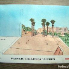 Coleccionismo Recortables: RECORTABLE PASSEIG DE LES PALMERES TARRAGONA ( NOU DIARI ) - 41 X 28,5. Lote 89229164